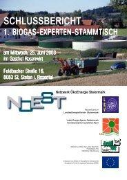 Biogasanlagen - LandesEnergieVerein Steiermark