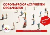 Coronaproof activiteiten organiseren