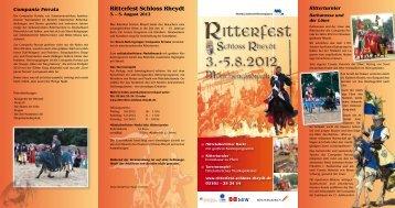 Ritterfest Schloss Rheydt