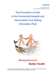 The Prevention of Falls - Health Promotion in Berkshire