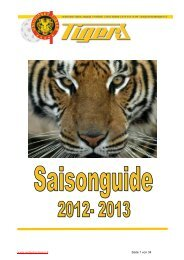 Unihockey Tigers Saison Guide 2012/13