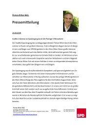 Pressemitteilung - Florian Ritter