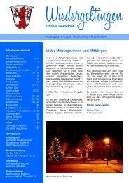 Unsere Gemeinde - Gemeinde Wiedergeltingen