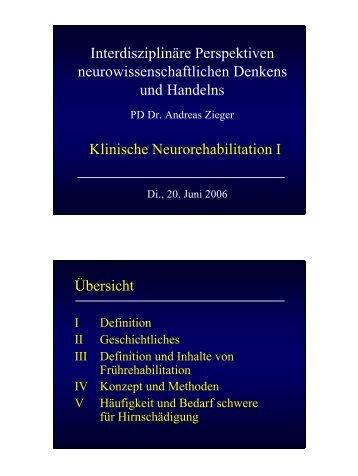Frührehabilitation - Andreas Zieger