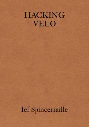 Hacking Velo by Ief Spincemaille