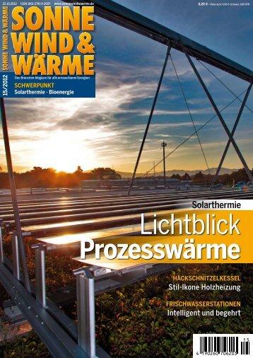 Lichtblick Prozesswärme - Sonne Wind & Wärme