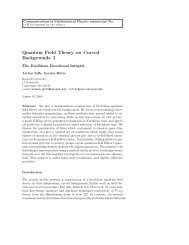 Quantum Field Theory on Curved Backgrounds. I - Arthur Jaffe