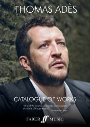 Thomas Adès Catalogue of Works
