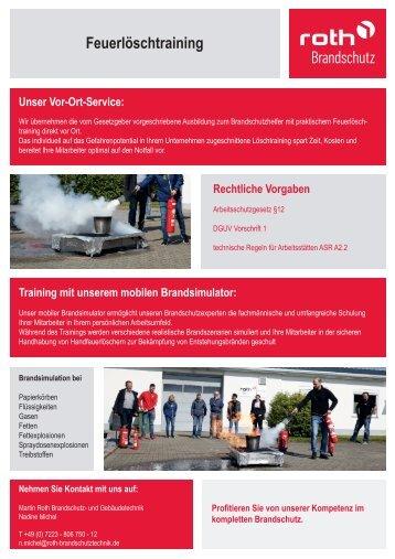 Roth Brandschutztechnik |Feuerlöschtraining