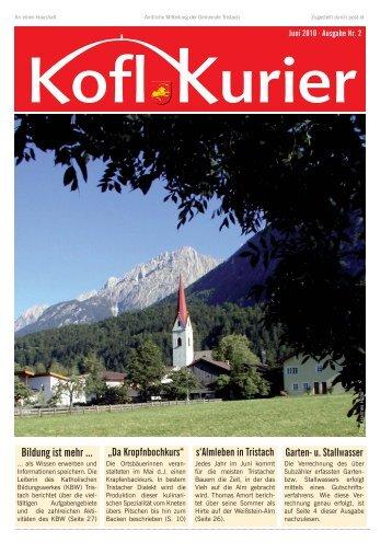 Koflkurier - Ausgabe 2 - in Tristach