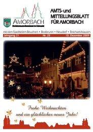 Wir wünschen einen guten Rutsch in ein gesundes und ... - Amorbach