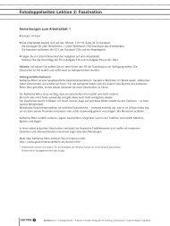 Fotodoppelseiten Lektion 2: Faszination - Hueber
