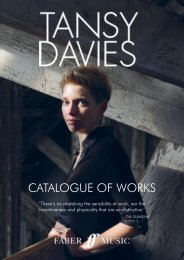 Tansy Davies Catalogue of Works