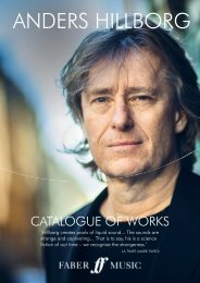 Anders Hillborg Catalogue of Works