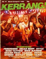 Kerrang - 12 1982
