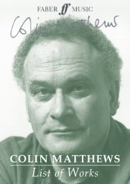 Colin Matthews Catalogue of Works