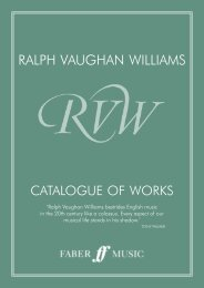 Ralph Vaughan Williams Catalogue of Works