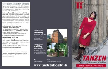 TANZEN - Tanzfabrik Berlin