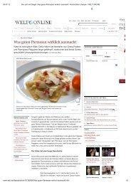 WELT Online, Was guten Parmesan wirklich ausmacht