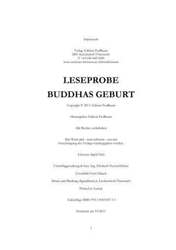 LESEPROBE BUDDHAS GEBURT - saint germain