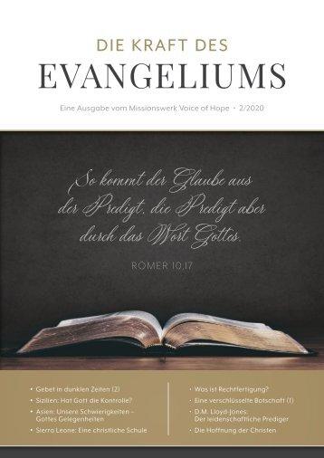 Die Kraft des Evangeliums 2/2020