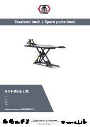 ATH-Heinl ERSATZTEILBUCH SPARE PARTS BOOK Bike Lift 7F