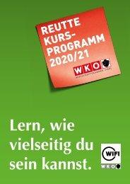 WIFI Reutte Kursprogramm 2020/21