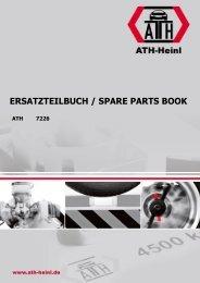 ATH-Heinl ERSATZTEILBUCH SPARE PARTS BOOK 7226