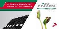 Gesamtprospekt Landscaping - Ritter GmbH
