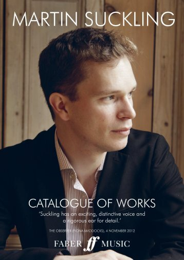 Martin Suckling Catalogue of Works