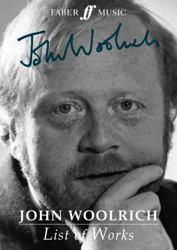 John Woolrich Catalogue of Works
