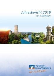 Geschäftsbereicht 2019 Volksbank RheinAhrEifel eG