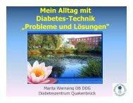 aus Sicht der Diabetesberaterin-DDG
