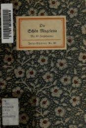 Die schn Magelona : eine fast lustige Historie von dem Ritter mit den ...