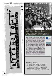 Ausgabe 73 (August-Oktober 2012) - Alternative Dresden News