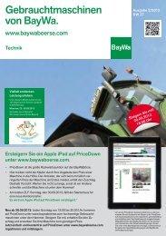 Gebrauchtmaschinen KW37 2012 - BayWa AG