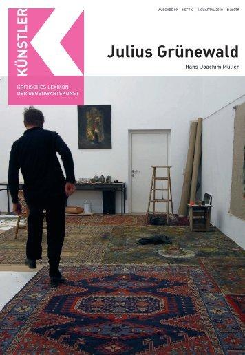 Julius Grünewald G - Zeit Kunstverlag