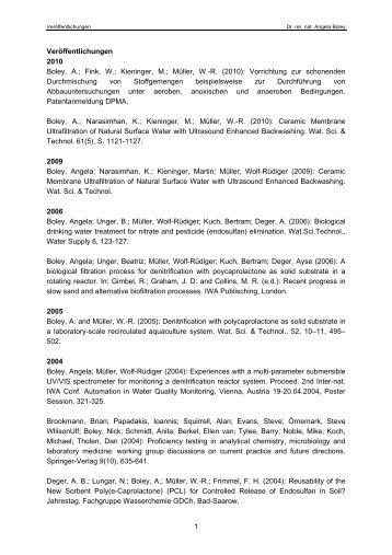 1 Veröffentlichungen 2010 Boley, A.; Fink, W.; Kieninger, M.; Müller ...