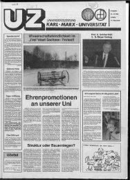 Ehrenpromotionen an unserer Uni - Universität Leipzig