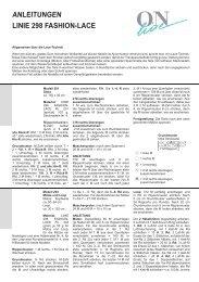 ANLEITUNGEN LINIE 298 FASHION-LACE - Buttinette