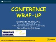2007 California Pavement Preservation Conference - The ...