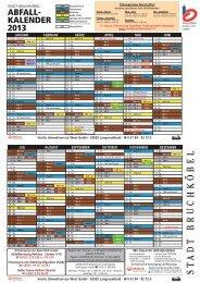 Abfallkalender 2013 - Stadt Bruchköbel