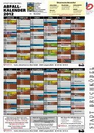 Abfallkalender 2012 - Stadt Bruchköbel