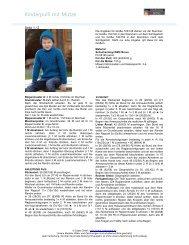 Kinderpulli mit Mütze - Coats GmbH