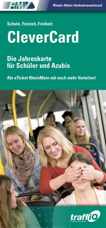 CleverCard Frankfurt - Broschüre - RMV Rhein-Main-Verkehrsverbund