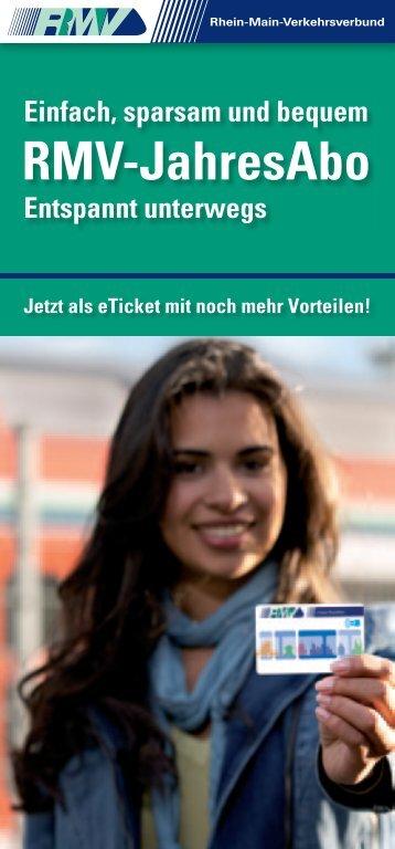 RMV-JahresAbo - RMV Rhein-Main-Verkehrsverbund