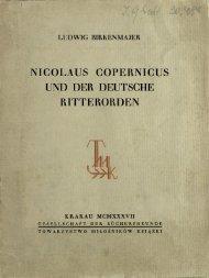 Nicolaus Copernicus und der Deutsche Ritterorden
