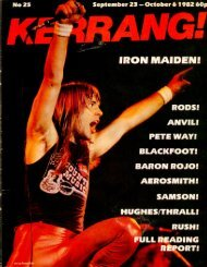 Kerrang - 25 1982