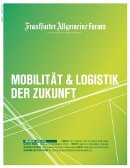 Mobilität & logistik der Zukunft - Frankfurter Allgemeine Forum