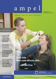 Erste Hilfe – Wenn jede Minute zählt… - Unfallkasse Rheinland-Pfalz